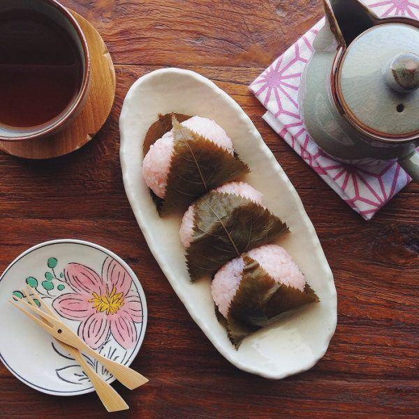 Mochi Japanese Dessert  Sakura Mochi 桜餅 • Just e Cookbook