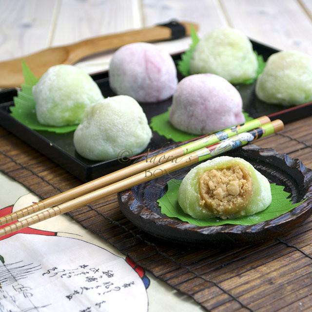 Mochi Japanese Dessert  PEANUT BUTTER MOCHI