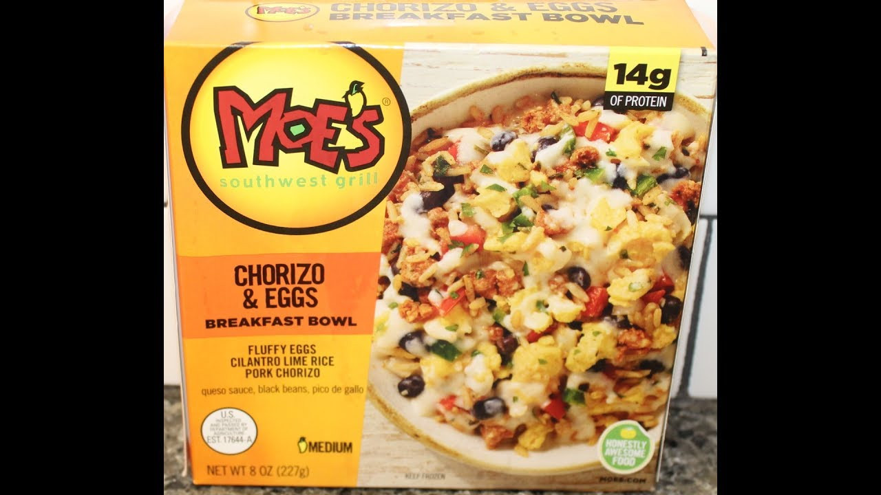 Moes Breakfast Bowls  Moe's Southwest Grill Chorizo & Eggs Breakfast Bowl
