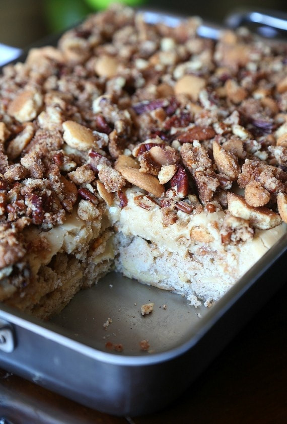 Moist Apple Cake Recipe  Cookies and Cups Praline Crunch Apple Cake Cookies and Cups