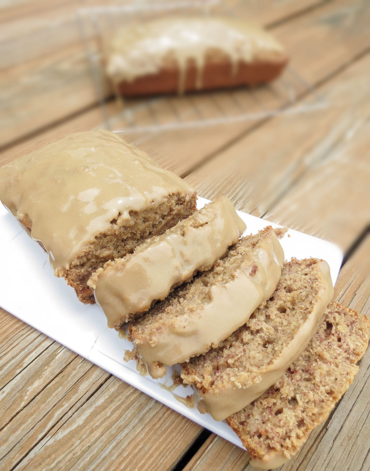 Moist Banana Bread  The Best Moist Banana Bread With Brown Sugar Glaze