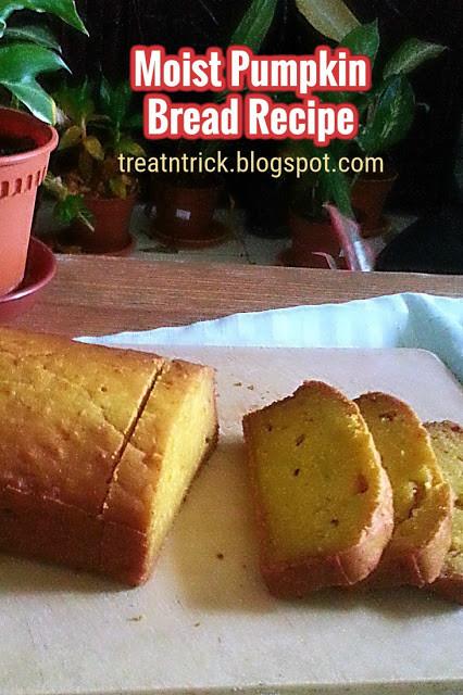 Moist Pumpkin Bread Recipe  TREAT & TRICK MOIST PUMPKIN BREAD RECIPE