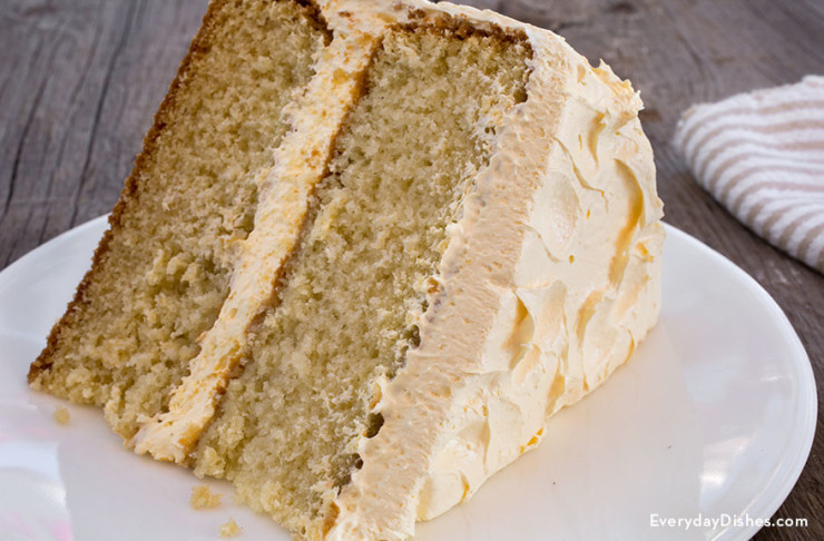 Moist Yellow Cake Recipe  Moist Yellow Buttermilk Cake Recipe