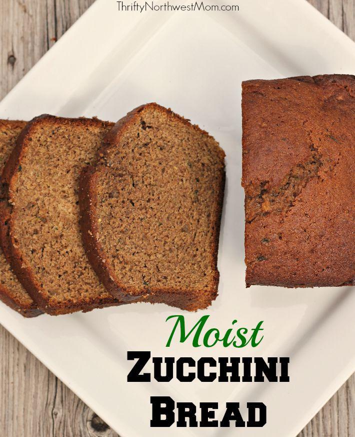 Moist Zucchini Bread  Zucchini Bread Moist & Flavorful for Summer Produce