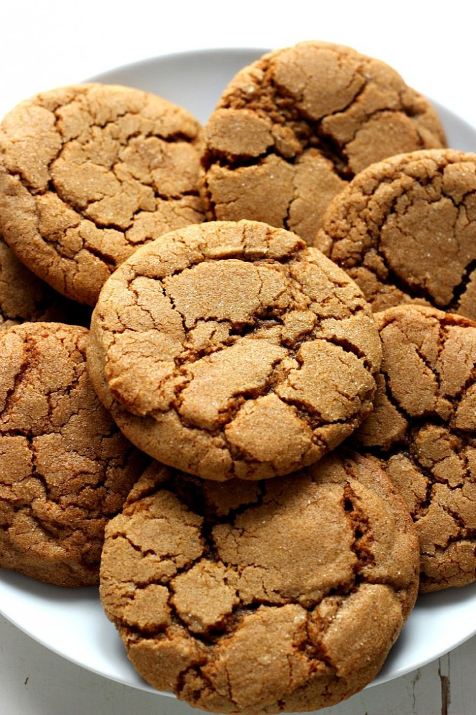 Molasses Ginger Cookies  Chewy Ginger Molasses Cookies Recipe Card Crunchy Creamy