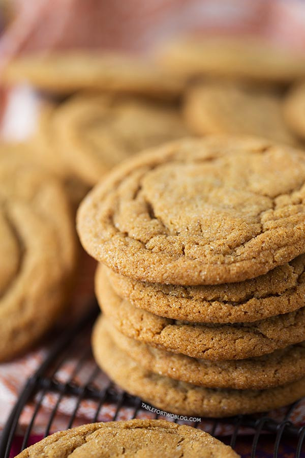 Molasses Ginger Cookies  Soft and Chewy Ginger Molasses Cookies Table for Two by