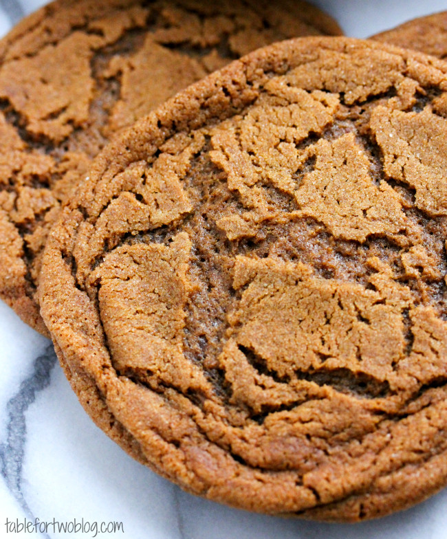 Molasses Ginger Cookies  Molasses Ginger Cookies Table for Two by Julie Wampler