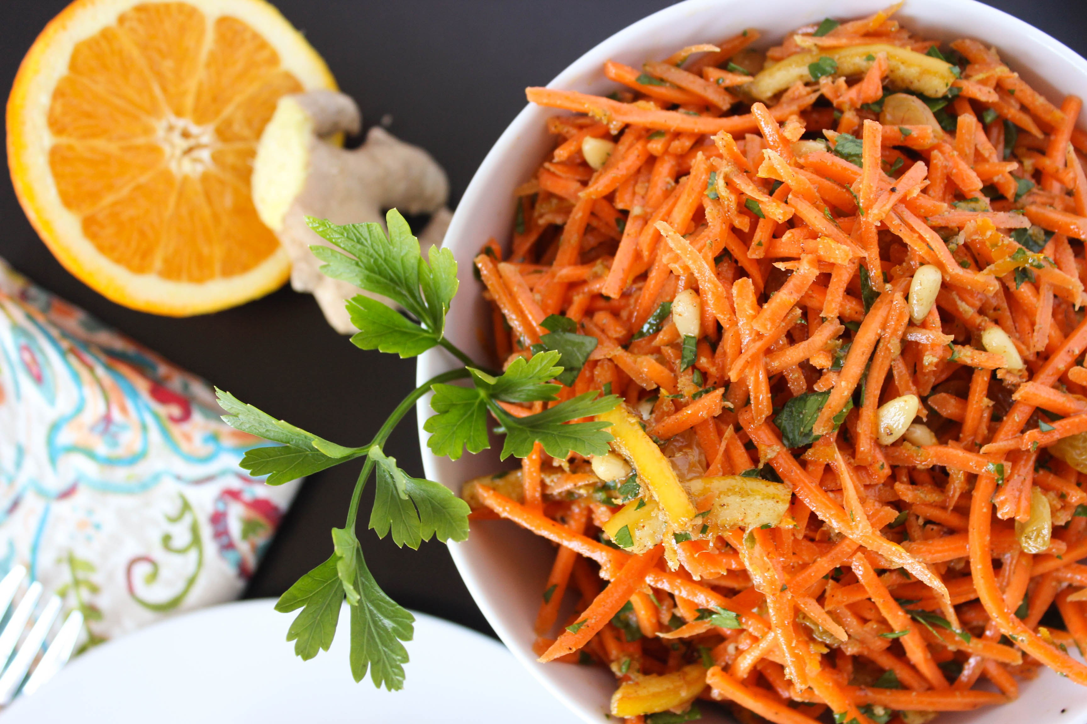 Moroccan Carrot Salad  Moroccan Carrot Salad Fork in the Kitchen