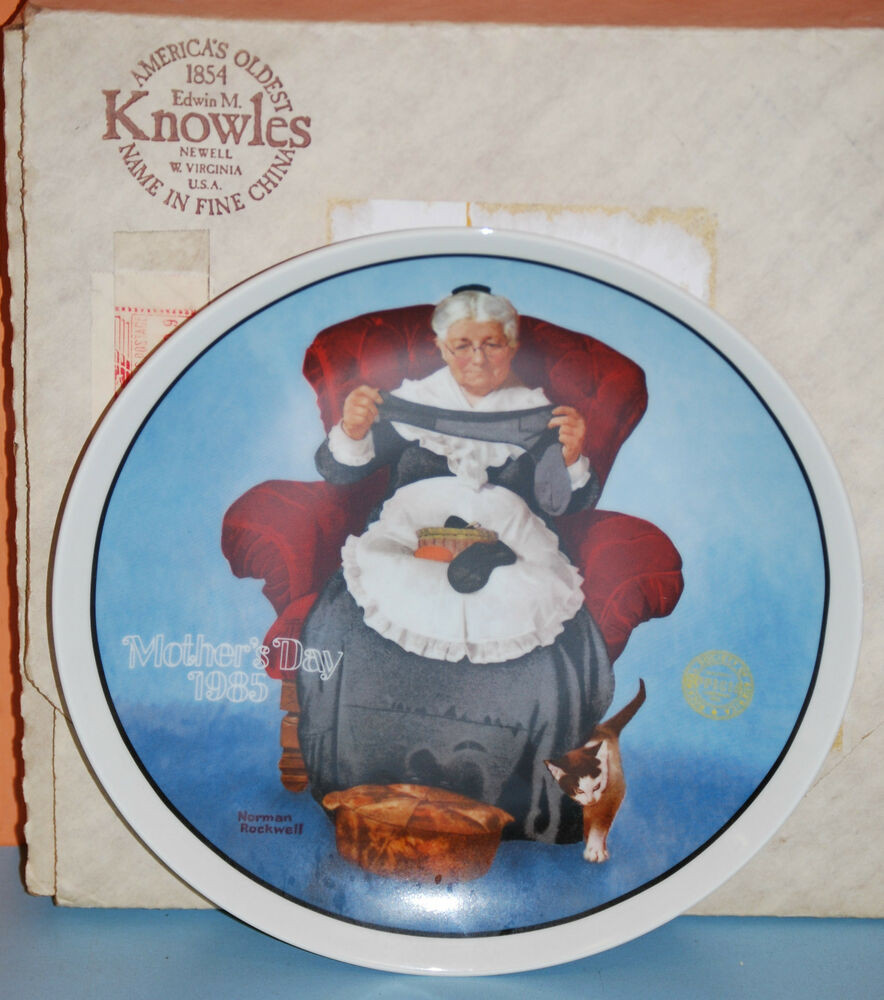 """Mother'S Day Dinner  """"Mending Time"""" 1985 Mother s Day"""" Series Collectors Plate"""