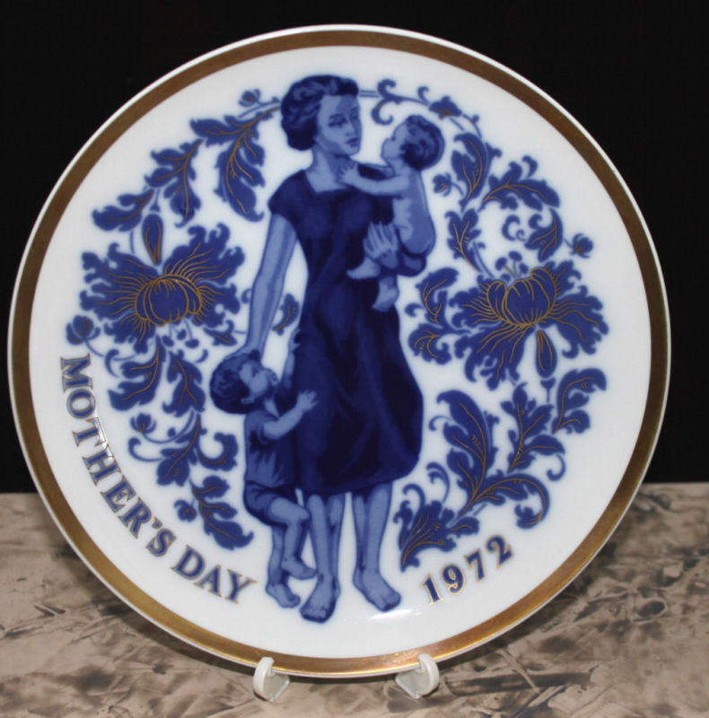 Mother'S Day Dinner  Vintage Santa Clara Plate Mother s Day 1972 Spain