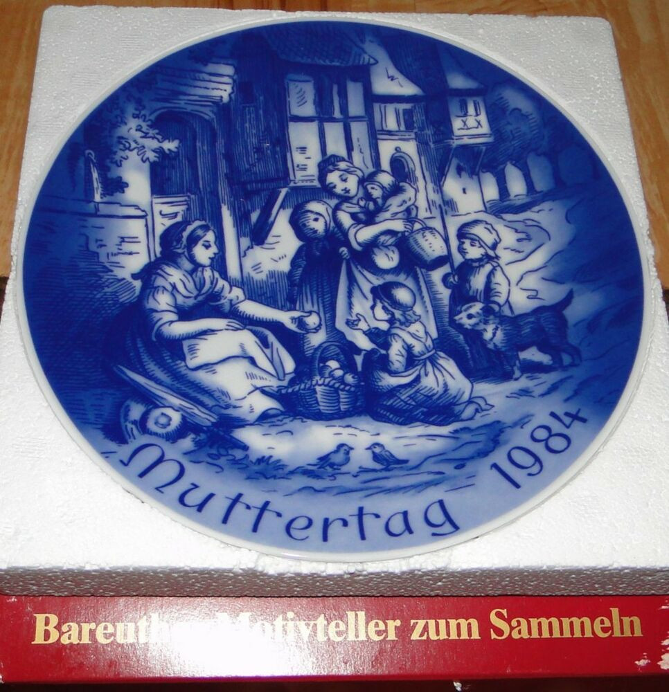 Mother'S Day Dinner  1984 Mother s Day MUTTERTAG Bareuther Bavaria Plate