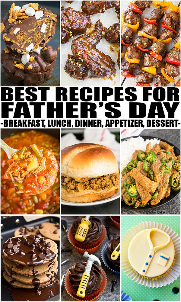 Mother'S Day Dinner Ideas  Father s Day Recipes Breakfast Lunch Dinner Dessert