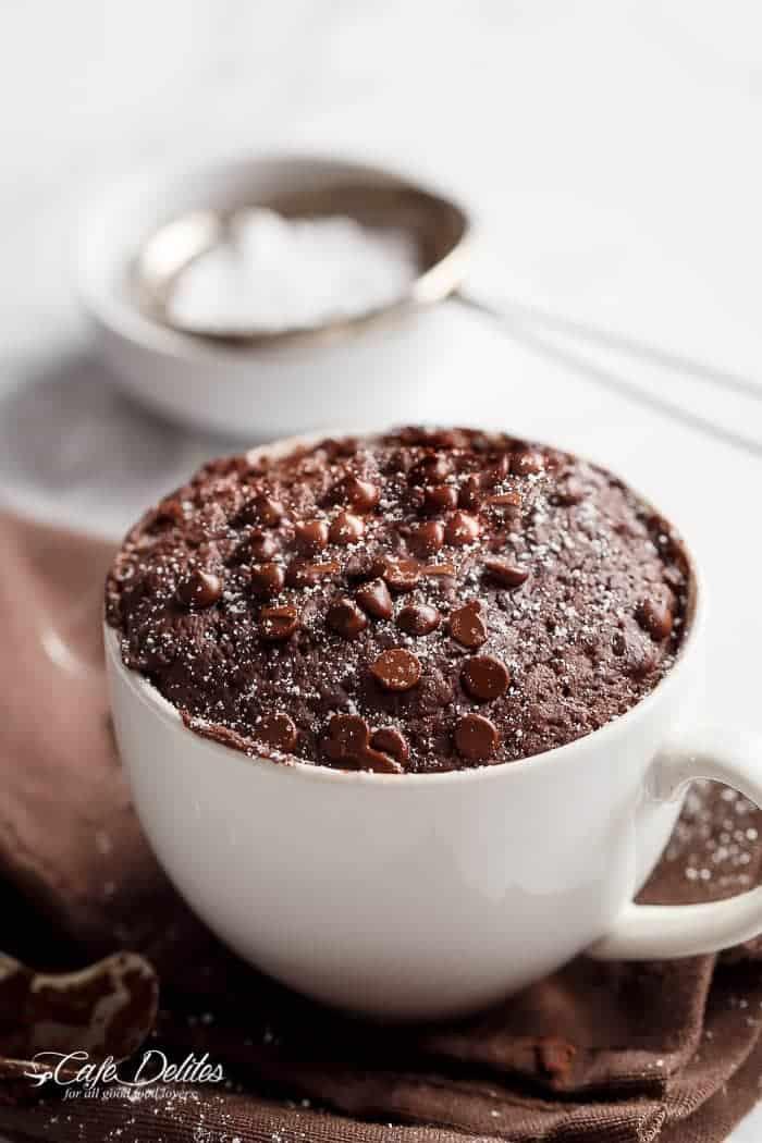 Mug Cake Recipe  Low Fat Chocolate Mug Cake Cafe Delites