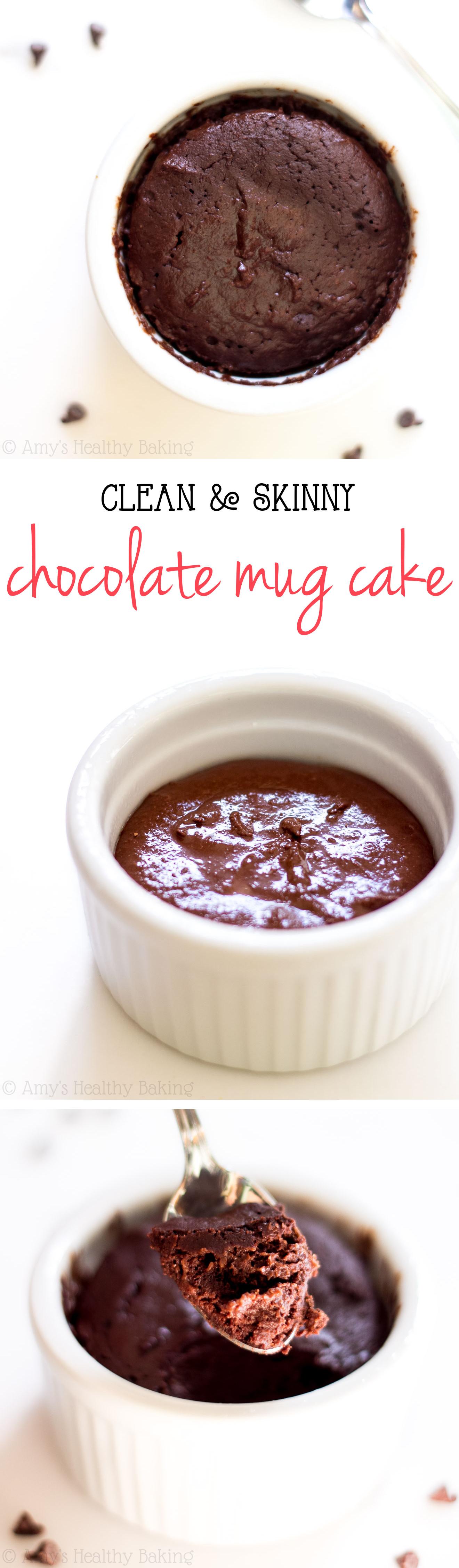 Mug Cake Recipe  Single Serving Clean Chocolate Mug Cake Recipe Video