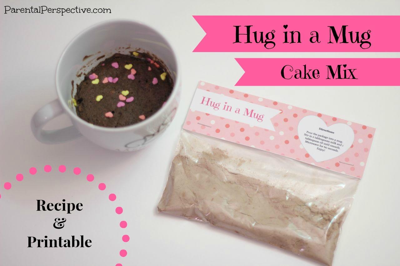 Mug Cake With Cake Mix  Hug In A Mug Cake Mix Recipe and Free Printable