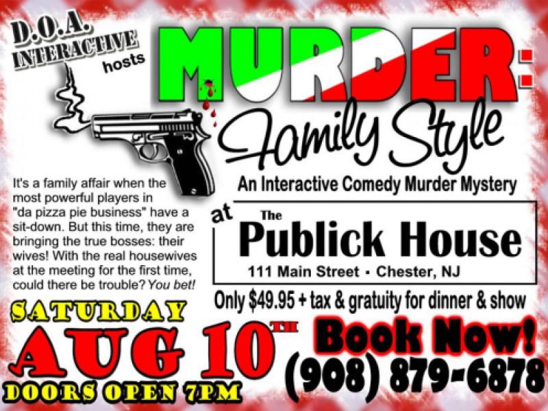 Murder Mystery Dinner Nj  Murder es To The Publick House