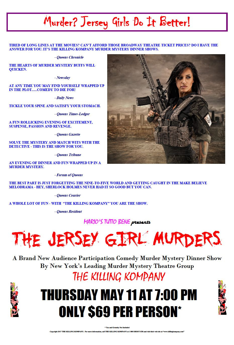 Murder Mystery Dinner Nj  Murder Mystery Dinner Theater Shows & Other Interactive