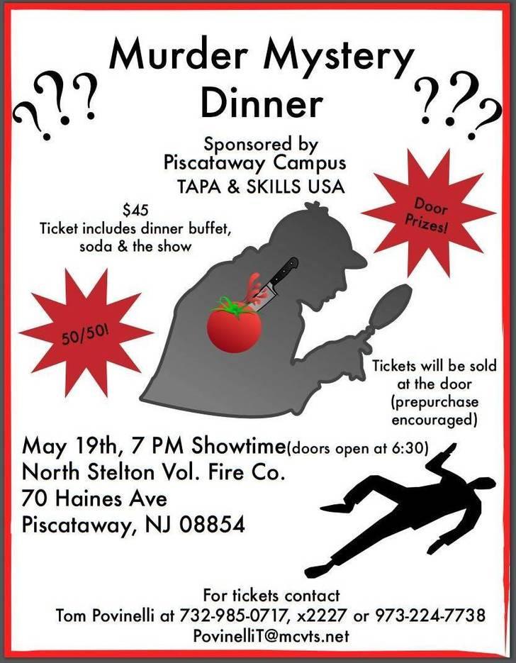 Murder Mystery Dinner Nj  Piscataway Vo Tech Murder Mystery Dinner Piscataway NJ