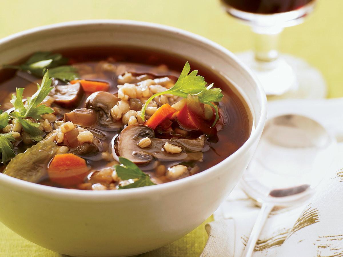 Mushroom Barley Soup Recipe  Mushroom Barley Soup Recipe Grace Parisi