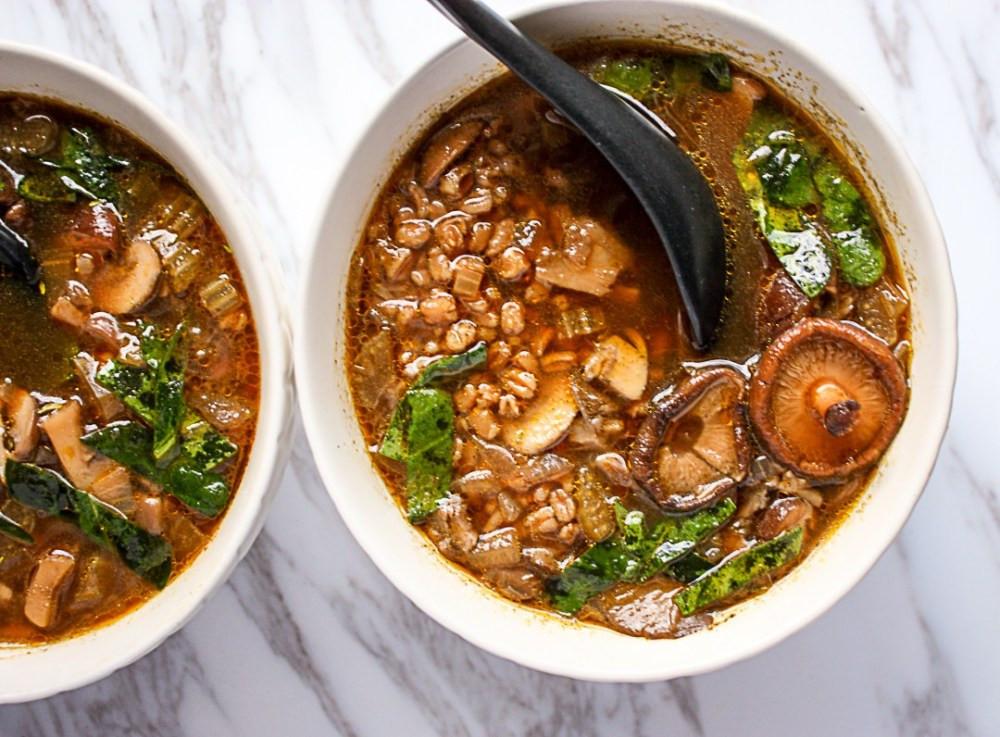 Mushroom Barley Soup Recipe  Mushroom Barley Soup Barley Soup Recipe