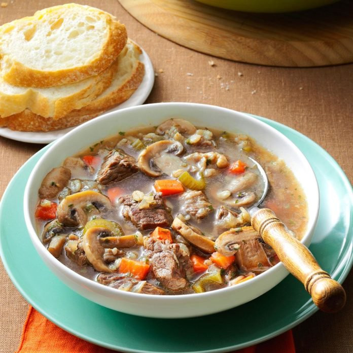Mushroom Barley Soup Recipe  Mushroom Barley Soup