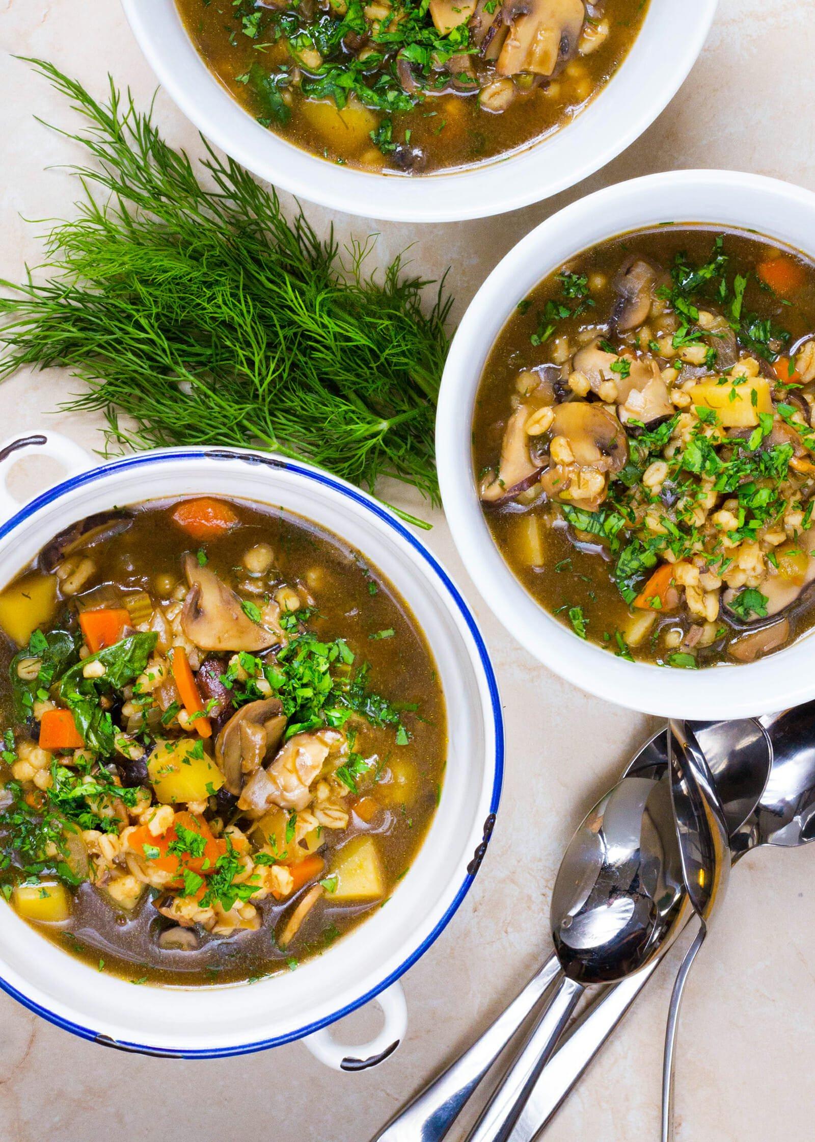 Mushroom Barley Soup Recipe  Updated Mushroom Barley Soup Recipe