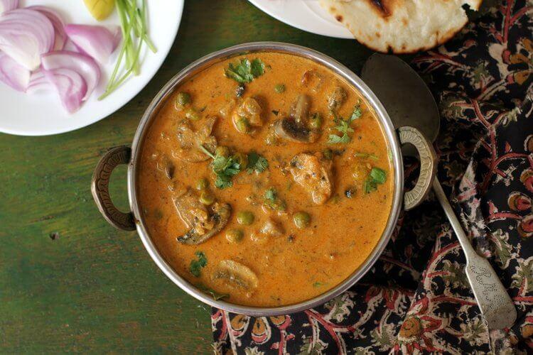 Mushroom Recipes Indian  matar mushroom recipe easy mushroom recipes indian
