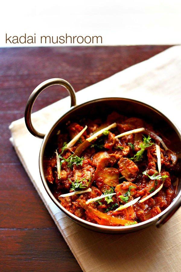 Mushroom Recipes Indian  kadai mushroom recipe how to make kadai mushroom