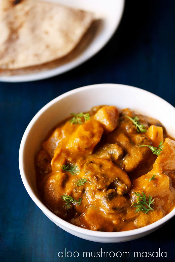 Mushroom Recipes Indian  aloo mushroom masala recipe