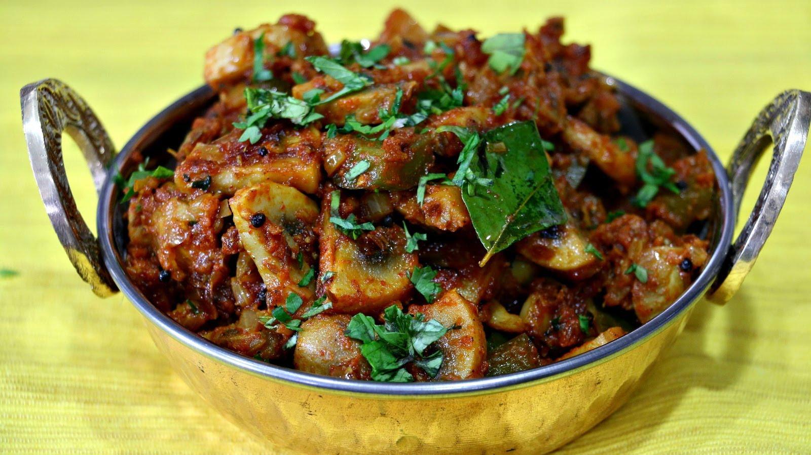 Mushroom Recipes Indian  Mushroom Masala Recipe