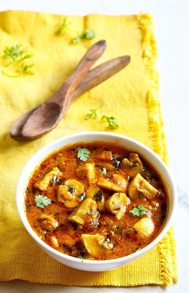 Mushroom Recipes Indian  methi mushroom recipe how to make methi mushroom