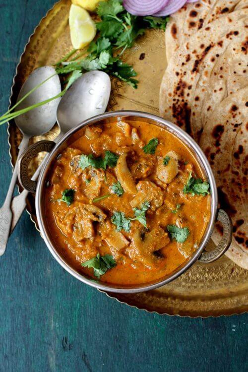 Mushroom Recipes Indian  mushroom masala indian recipe