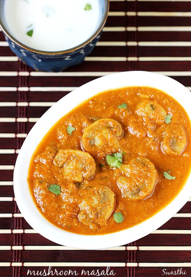 Mushroom Recipes Indian  Mushroom masala recipe mushroom gravy recipe