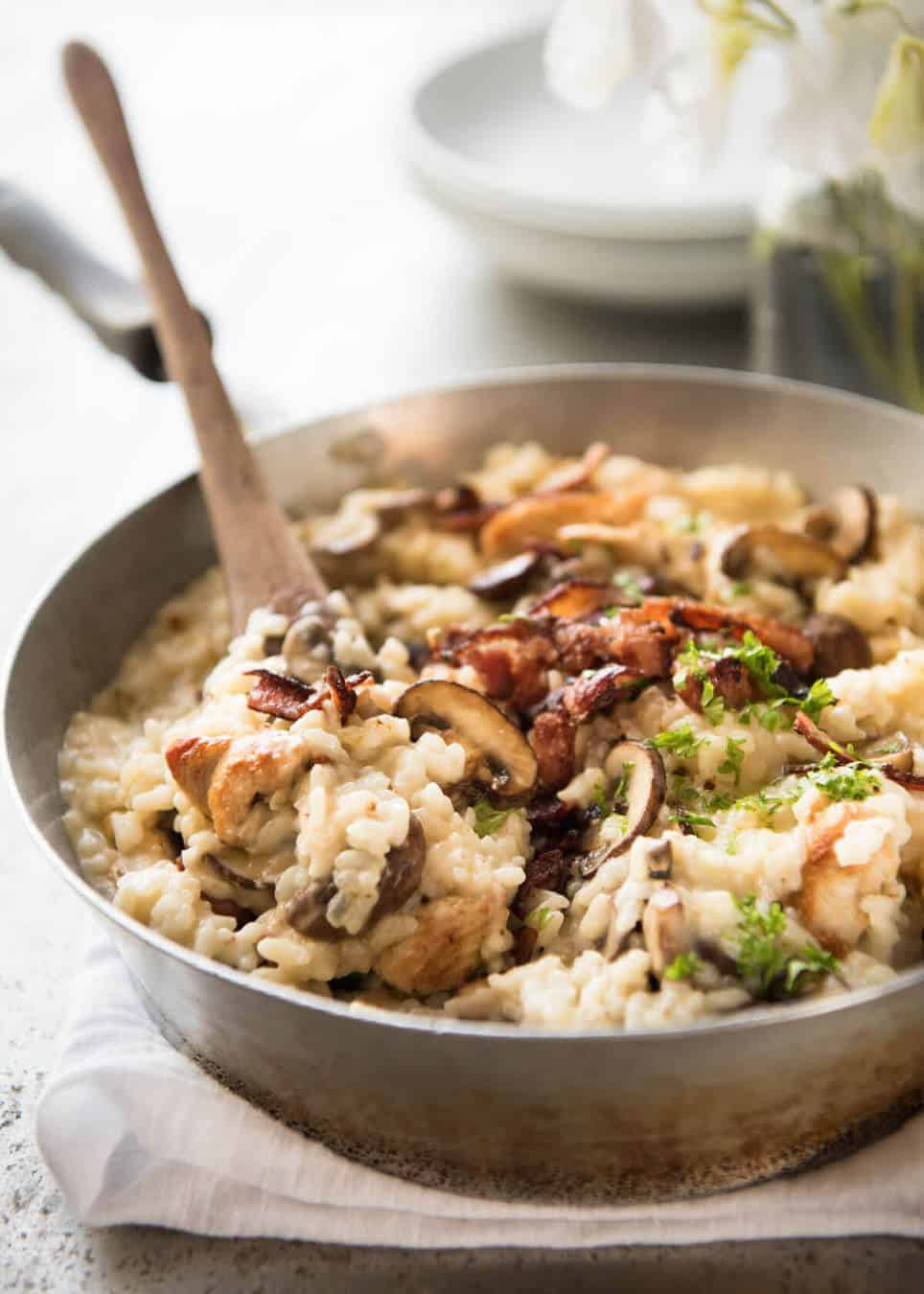 Mushroom Risotto Recipe  Chicken and Mushroom Risotto