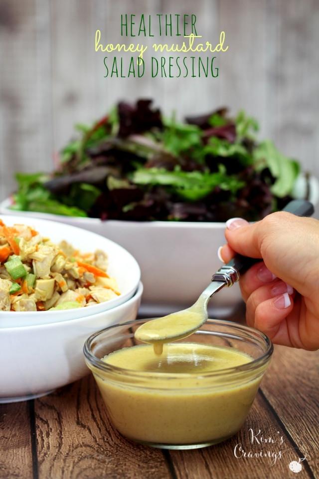 Mustard Salad Dressings  Healthier Honey Mustard Salad Dressing Kim s Cravings