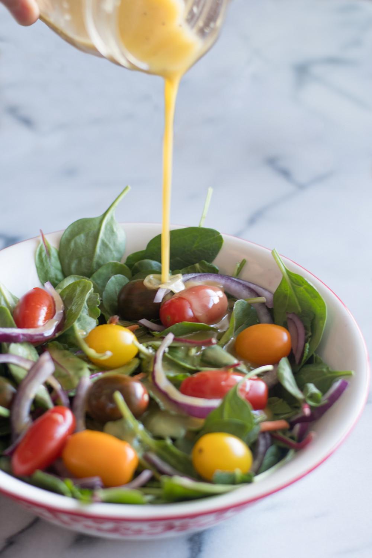 Mustard Salad Dressings  Maple Mustard Salad Dressing Thyme & Love