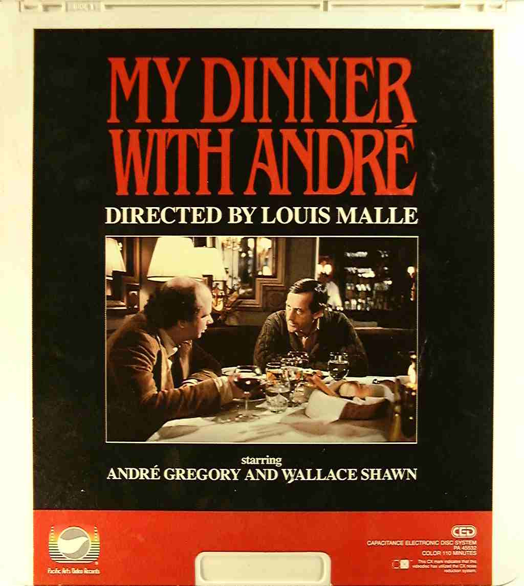My Dinner With Andre  My Dinner With Andre  U Side 1 CED Title