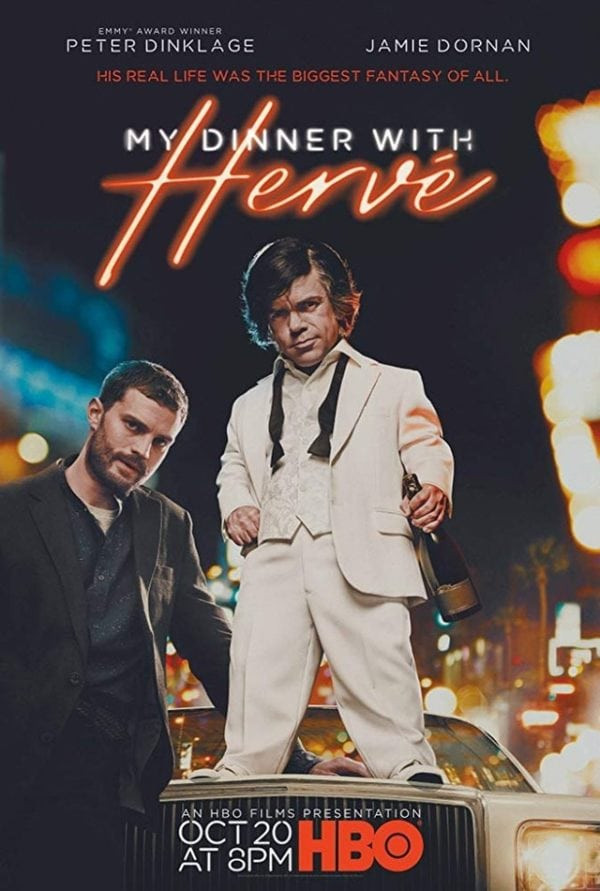 My Dinner With Hervé  Poster for My Dinner With Herve featuring Peter Dinklage