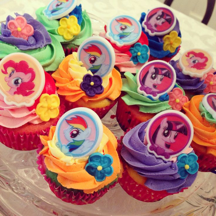 My Little Pony Cupcakes  MY LITTLE PONY CUPCAKES For childrens