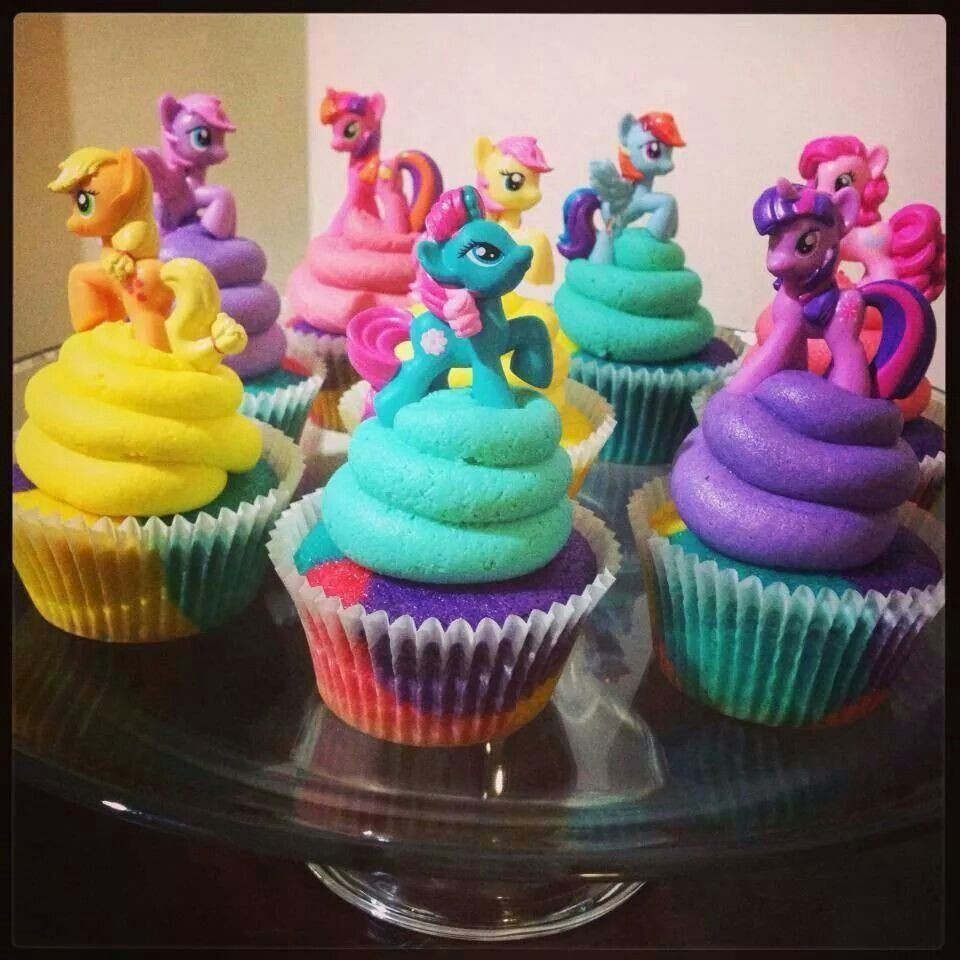 My Little Pony Cupcakes  MY LITTLE PONY cupcakes CUPCAKES Pinterest