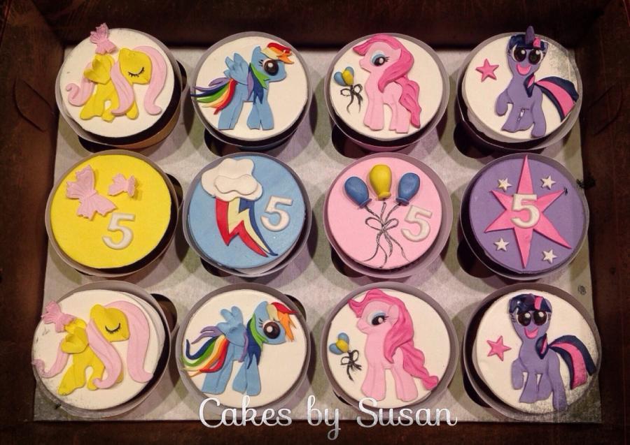 My Little Pony Cupcakes  My little pony cupcakes cake by Skmaestas CakesDecor