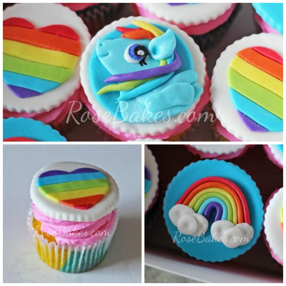My Little Pony Cupcakes  My Little Pony Rainbow Dash Cupcakes Rose Bakes