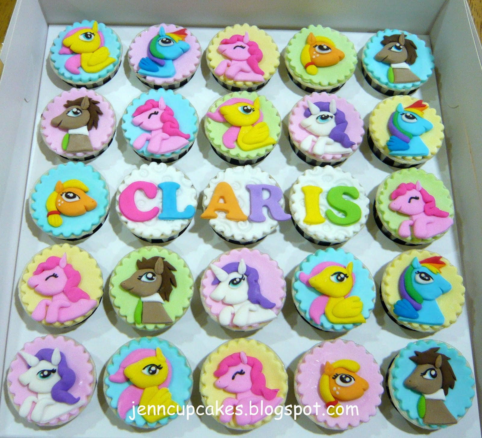 My Little Pony Cupcakes  Jenn Cupcakes & Muffins My Little Pony Cupcakes