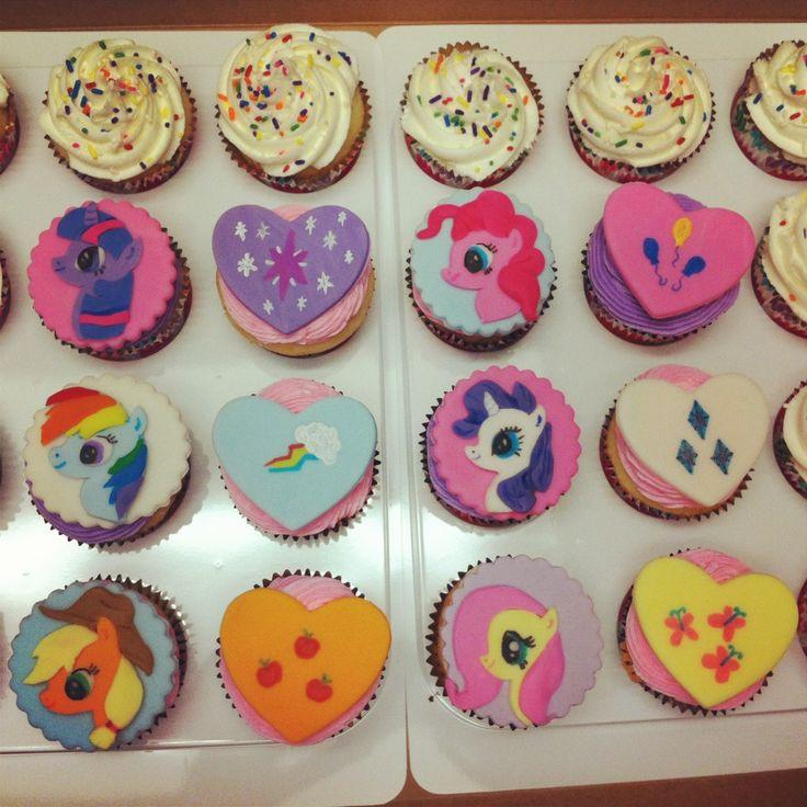 My Little Pony Cupcakes  My Little Pony cupcakes Birthdays Pinterest