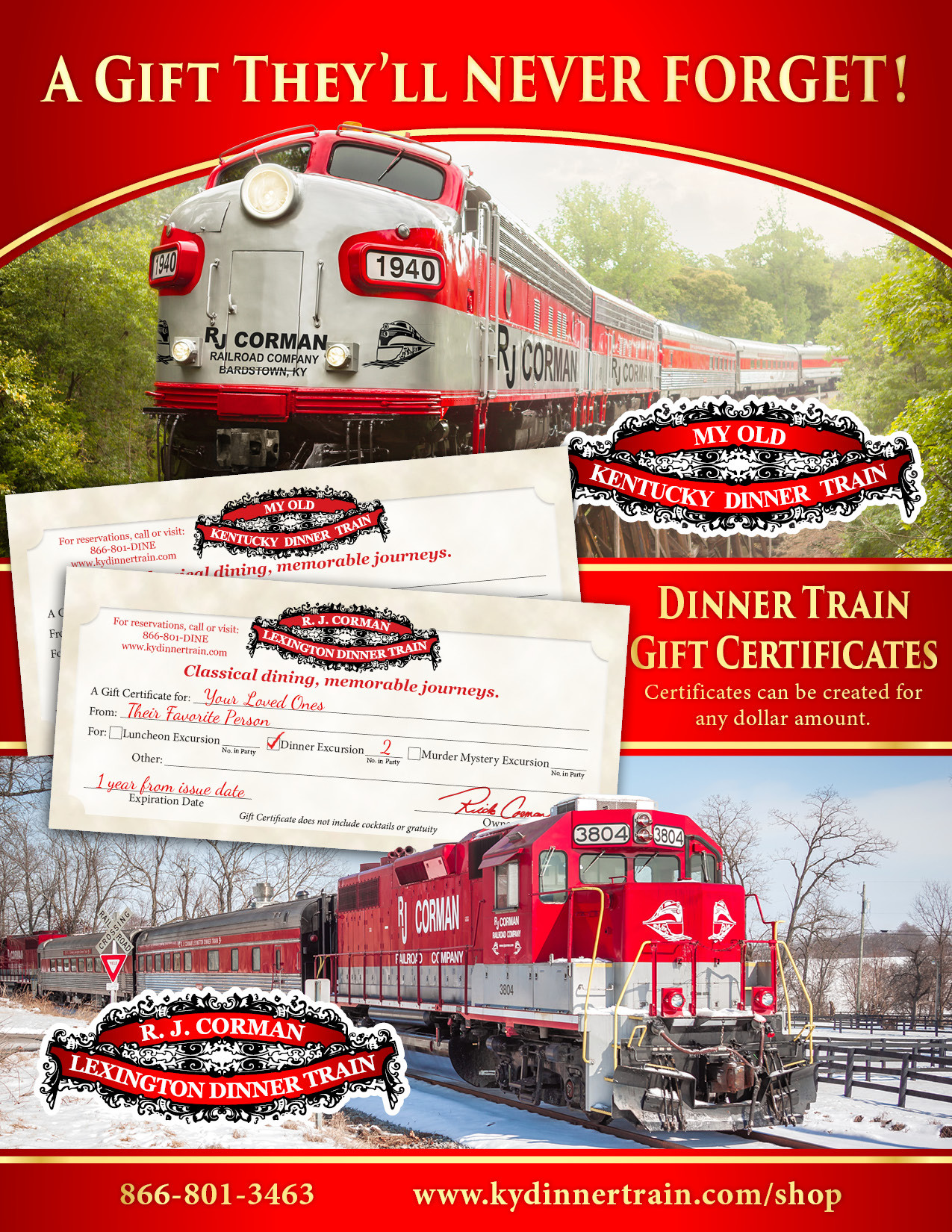 My Old Kentucky Dinner Train  My Old Kentucky Dinner Train Specials