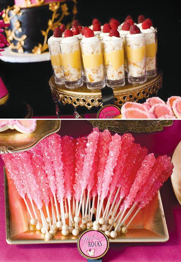 Mystic Dessert Bar  Mystic Force Pink Power Ranger Party