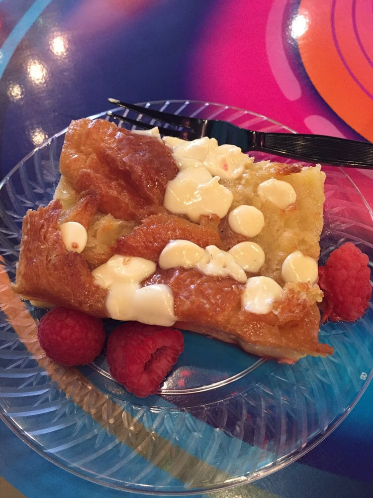 Mystic Dessert Bar  The croissant bread pudding with white chocolate and