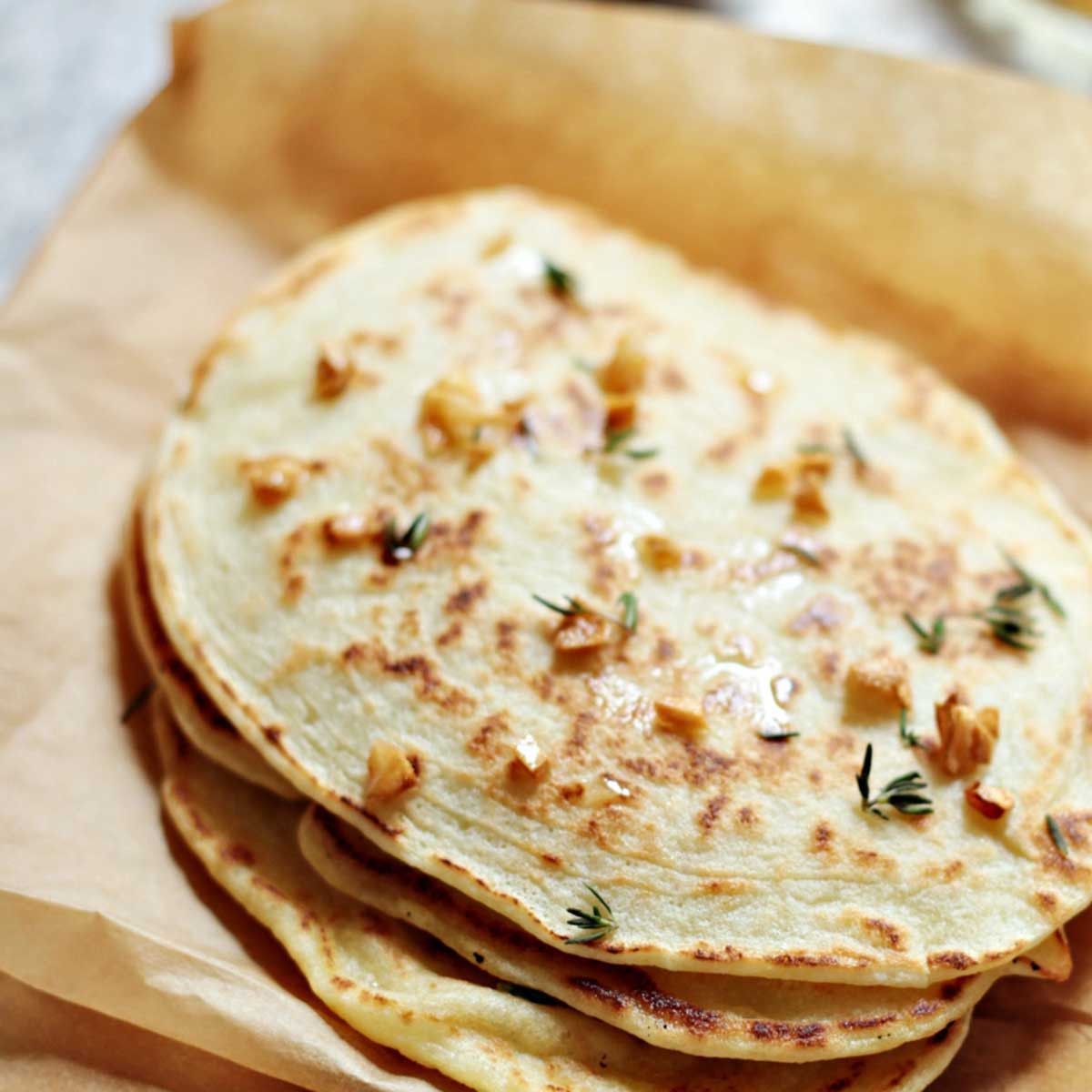 Naan Bread Recipe  Paleo Garlic Naan Bread Quick and Easy Recipe