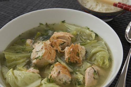 Napa Cabbage Soup  Napa Cabbage Salmon Soup