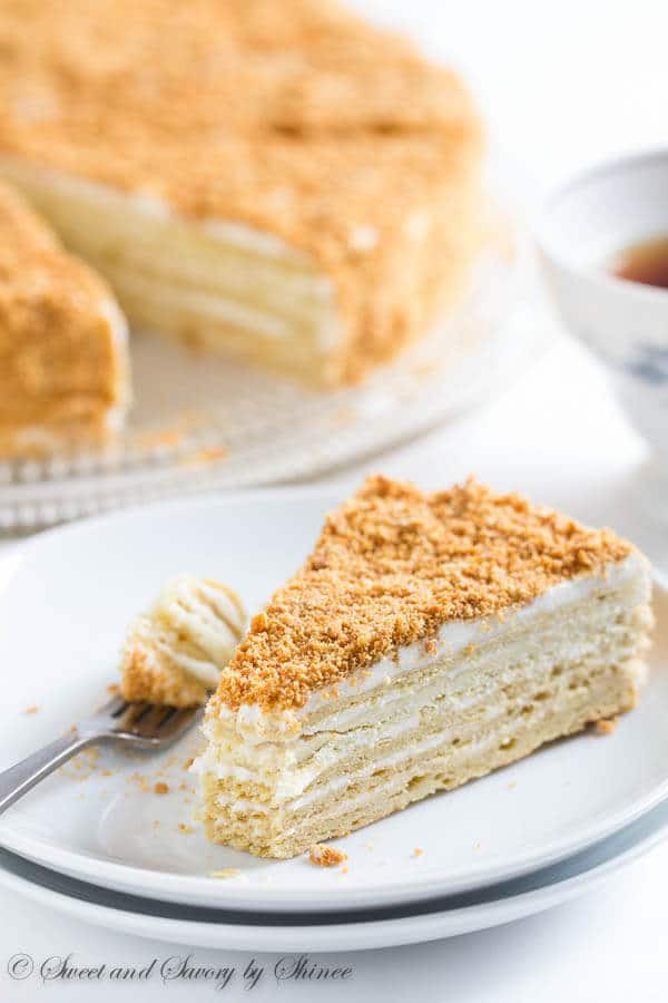 Napoleon Cake Recipe  Russian Cake